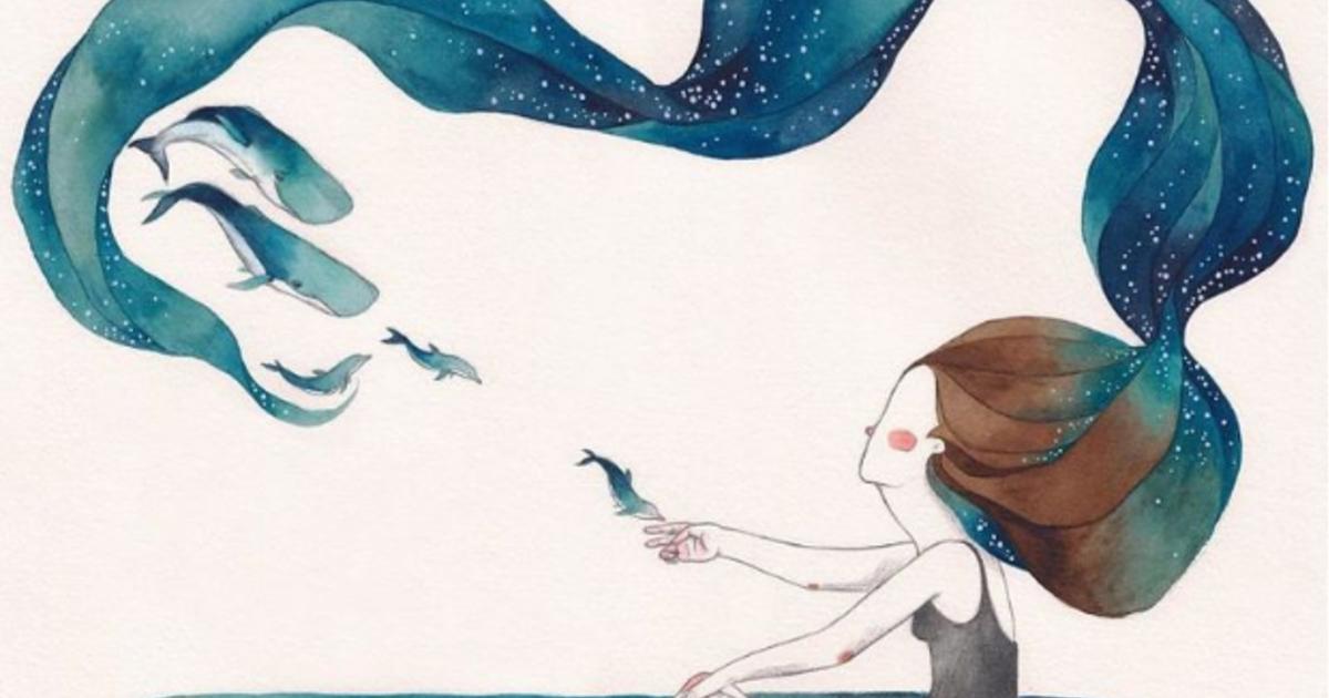 「當你擁抱世界,世界就開始擁抱你」感受自己存在的療癒插畫集