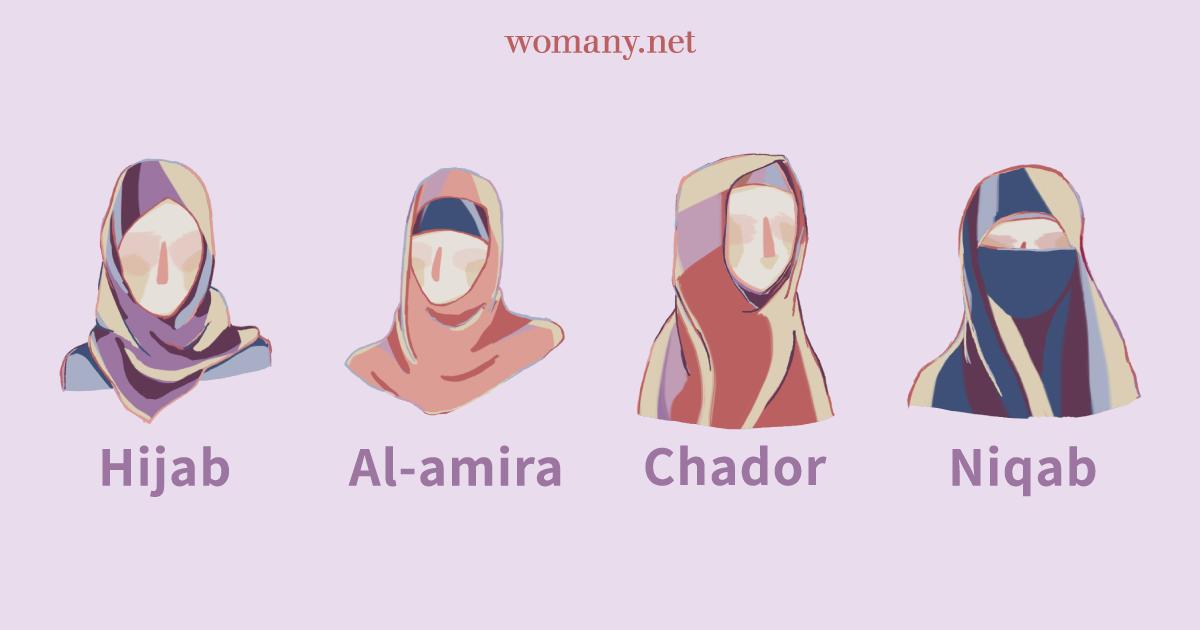 【資訊圖表】面紗、頭巾、罩袍、布基尼!一張圖帶你看穆斯林的衣著選擇