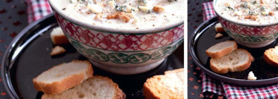 美味料理食譜:藍乳酪白花椰菜濃湯
