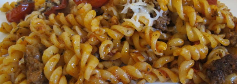 美味料理食譜:紅茄牛肉碎油封番茄螺旋麵