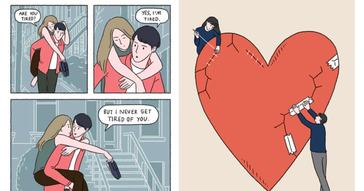 泰國插畫家筆下的曖昧風景:我不需要完美,我只需要我們