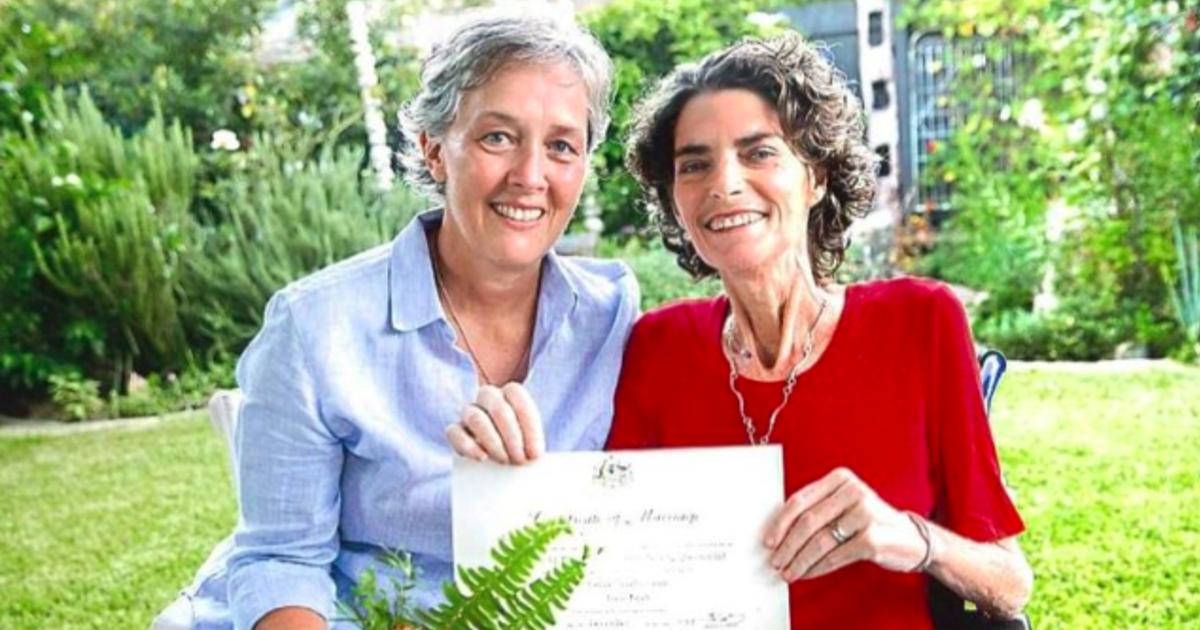 澳洲首對成婚同志:「我終於能叫最愛的她,一聲妻子」