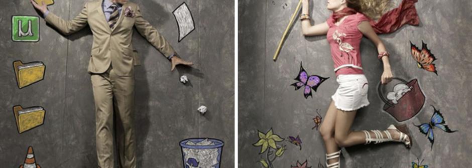 可愛的白日夢繪畫,今天你想做哪個夢?