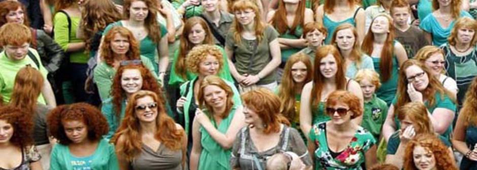 5000位紅髮人,比美髮更像火的熱情