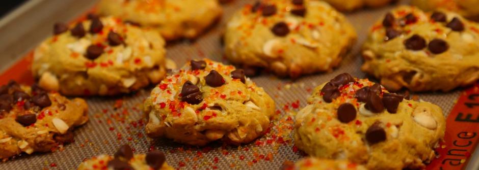 與孩子的手作時光,南瓜巧克力豆餅乾
