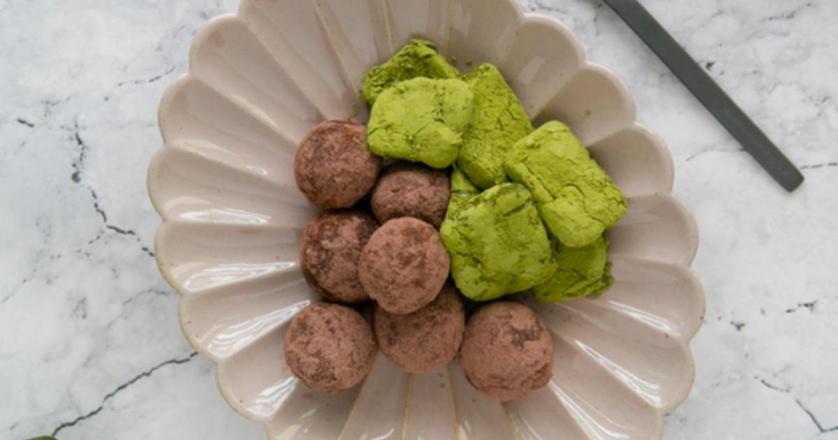 減醣也能享受甜點!抹茶起司磚、莓果巧克力球食譜