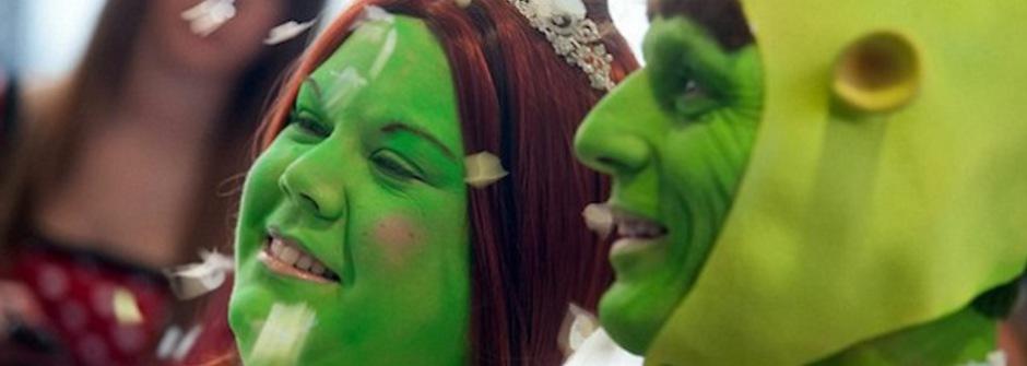 史瑞克式的浪漫童話婚禮