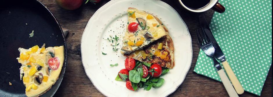 美味料理食譜:好吃早餐!蘑菇甜椒歐姆蛋