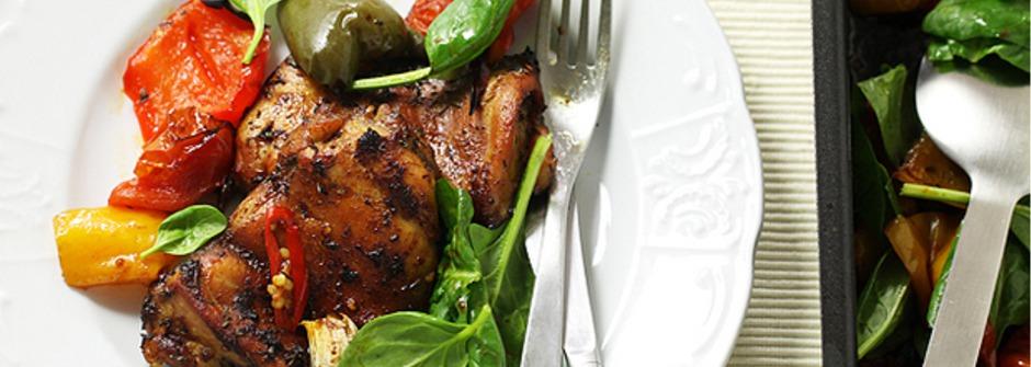 美味料理食譜:流口水美味!打帶跑雞肉大盤烤
