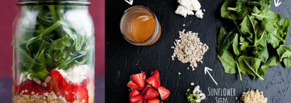 健康飲食新趨勢,自製美味又好看的罐裝沙拉 Salad in a Jar