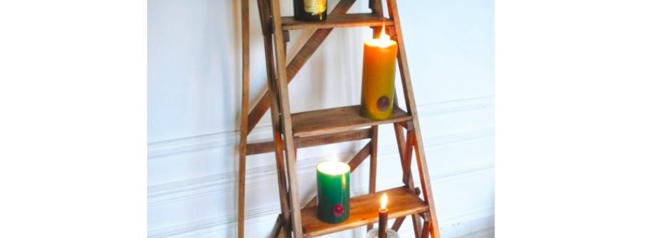 復古老東西的時光記憶:一張 1950 年的法國圖書館梯子