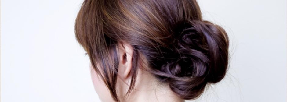 簡易的氣質喜宴髮髻