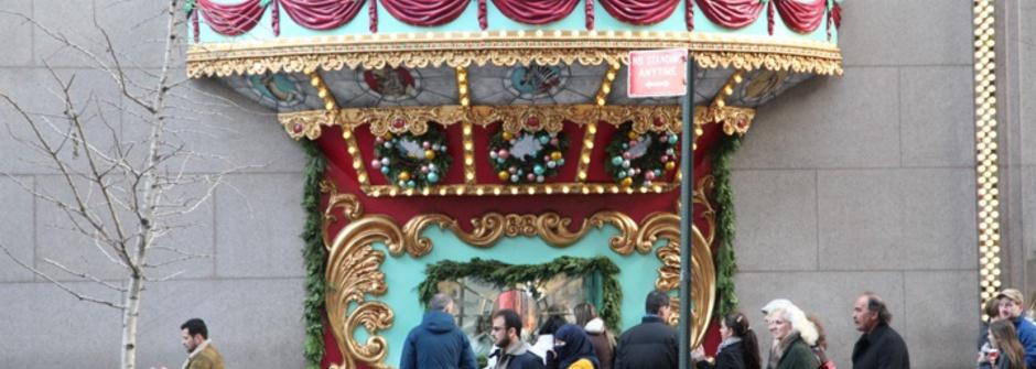 Tiffany的奇幻冬日櫥窗設計